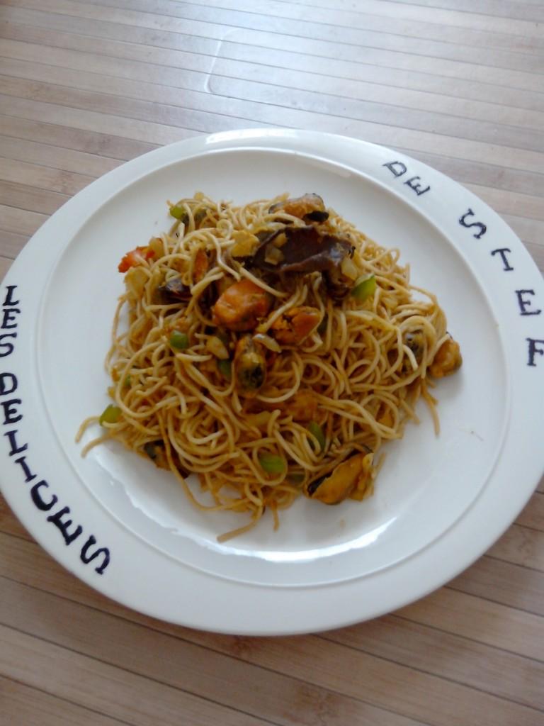 Nouilles chinoises aux d lices de la mer blogs de cuisine - Cuisine asiatique vapeur ...