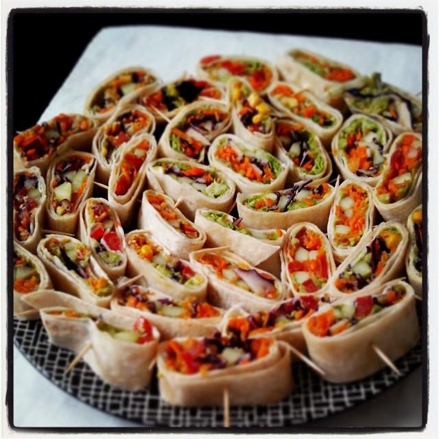 Wraps pour ap ro dinatoire les d lices de stef for Decoration de plat avec des legumes