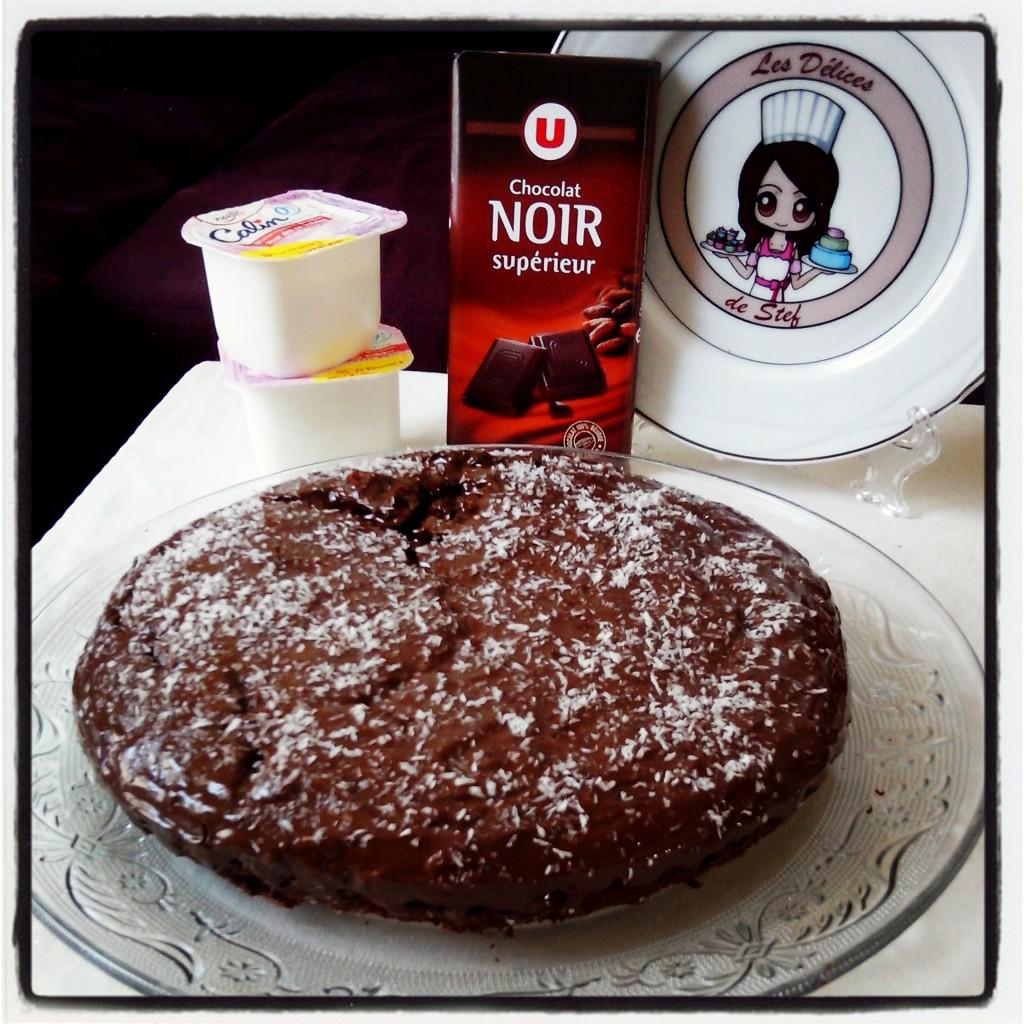 G teau au chocolat sans oeufs sans beurre les d lices de stef - Gateau chocolat avec huile sans beurre ...