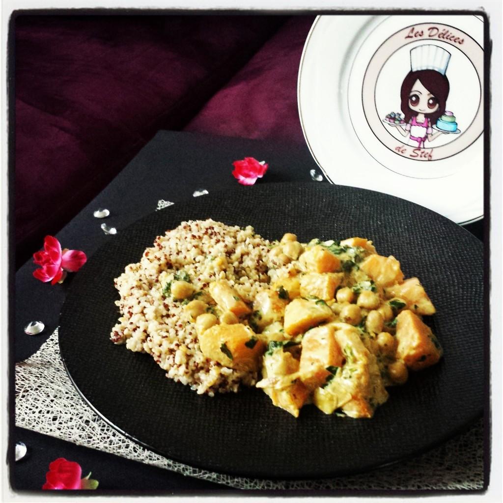 Curry v g tarien de courge au quinoa les d lices de stef - Recette cake sale vegetarien ...